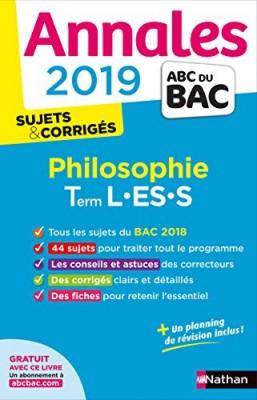 """Afficher """"Annales ABC du BAC 2019 - Philosophie - Term L-ES-S"""""""