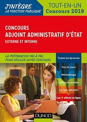 """Afficher """"Concours adjoint administratif d'Etat 2019, externe et interne"""""""