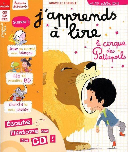 J'apprends à lire n° 157<br /> Le Cirque des Pattapoils (octobre 2012)