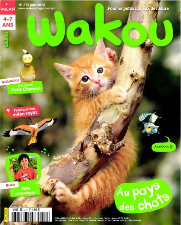 Wakou n° 279<br /> Au Pays des chats (juin 2012)