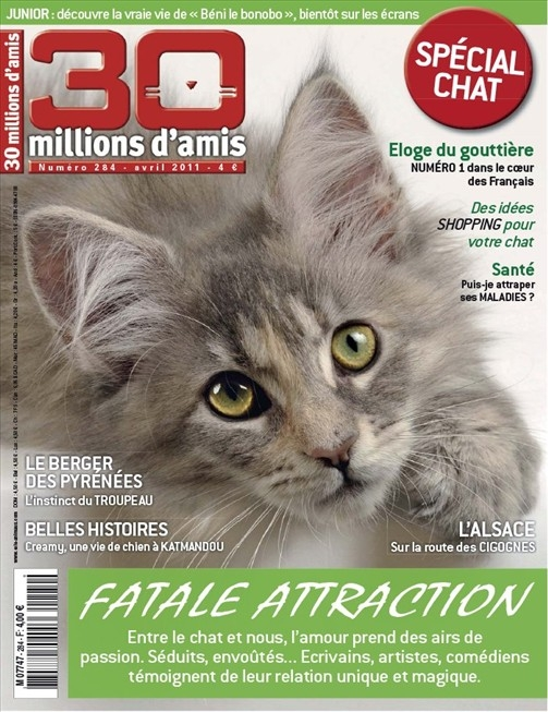 30 millions d'amis n° 284<br /> Fatale attraction (avril 2011)