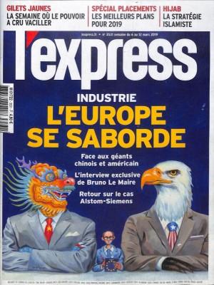 """Afficher """"L'Express n° 3531 L'Express - 06 mars 2019 - 12 mars 2019"""""""