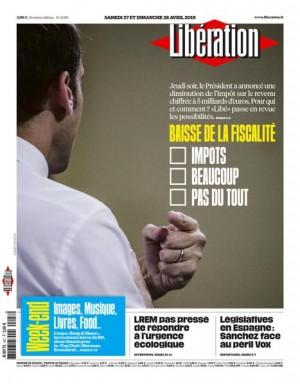 "Afficher ""Libération n° 11789 Libération - samedi 27 avril 2019"""