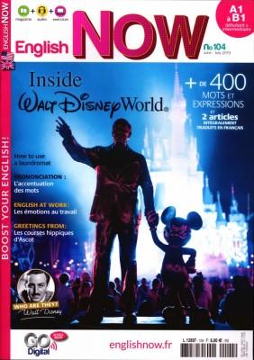 """Afficher """"English now n° 104 Inside Walt Disney World"""""""