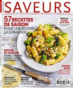 """Afficher """"SAVEURS n° 258 57 recettes de saison pour une rentrée gourmande"""""""