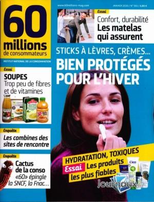 """Afficher """"60 millions de consommateurs n° 2020<br /> Bien protégés pour l'hiver"""""""