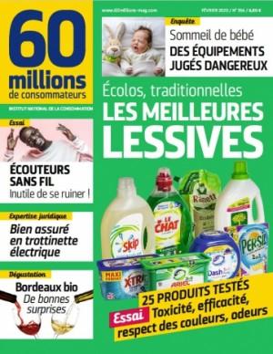 """Afficher """"60 millions de consommateurs n° 2020<br /> Les meilleurs lessives"""""""