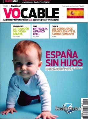 """Afficher """"Vocable """"Espagnol"""" n° 805 Vocable """"Espagnol"""" - 02 février 2020 - 04 mars 2020"""""""