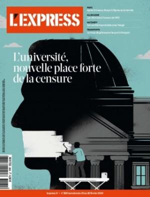 """Afficher """"L'Express n° 2020<br /> L'université, nouvelle place forte de la censure"""""""