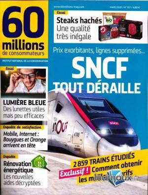 """Afficher """"60 millions de consommateurs n° 2020<br /> SNCF tout déraille"""""""
