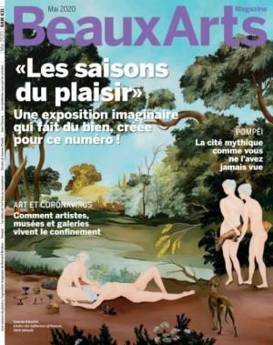 """Afficher """"Beaux Arts Magazine n° 431 Beaux Arts Magazine - mai 2020 """"Les saison du plaisir"""" une exposition imaginaire qui fait du bien, créée pour ce numéro !"""""""