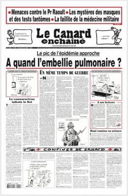 """Afficher """"le Canard enchaîné n° 5185 le Canard enchaîné - 25 mars 2020"""""""